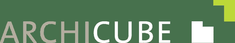 Logo Archicube auf braun